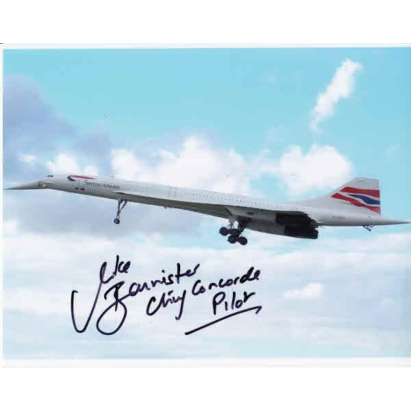 Mike Bannister Concorde authentic genuine signed autograph image.