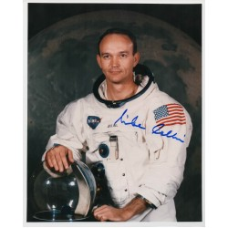 Mike Collins Apollo 11 genuine authentic autograph signed photo.