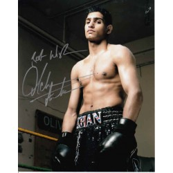 Amir Khan Boxing Boxing genuine authentic signed autograph photo.