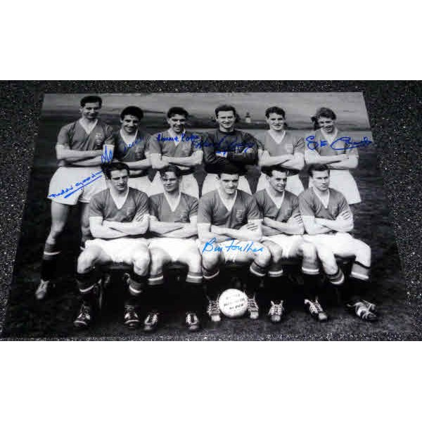 Busby Babes Man United 1958 Cup Final football genuine authentic autograph signed photo