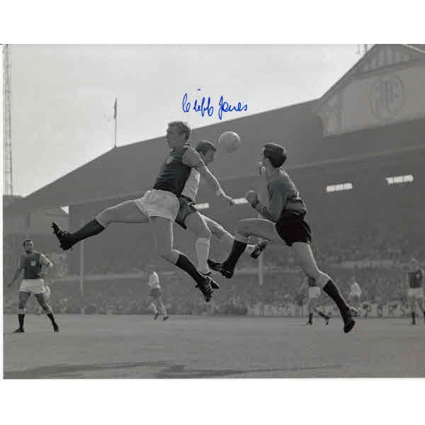 Cliff Jones Tottenham Spurs football genuine authentic autograph signed photo