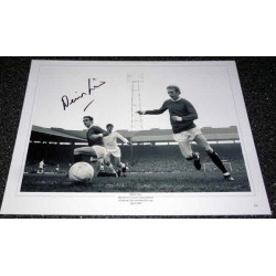 Denis Law Man United football genuine authentic autograph signed photo