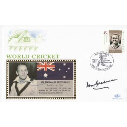 Don Bradman Cricket genuine authentic autograph signed FDC.