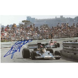 Emerson Fittipaldi Lotus genuine authentic autograph signed image.