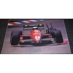 Gerhard Berger F1 Ferrari genuine authentic signed autograph image.
