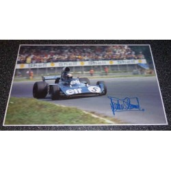 Jackie Stewart Matra Tyrell F1 genuine authentic signed autograph image.