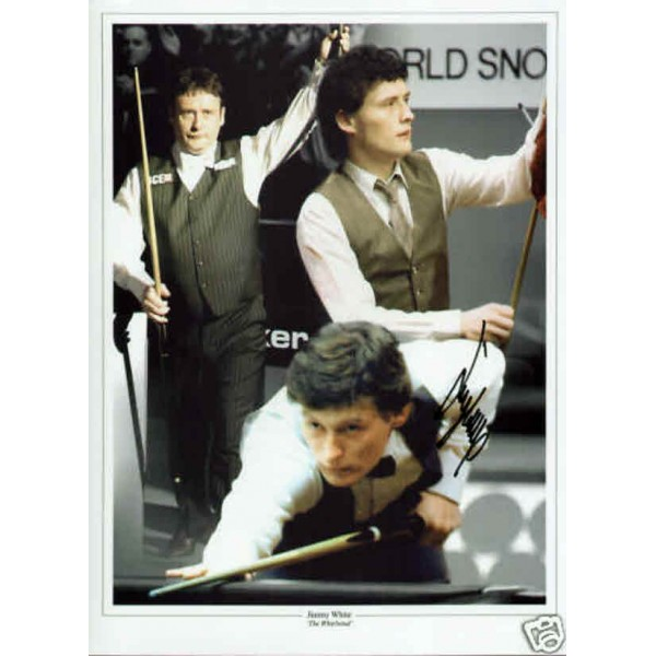Jimmy White whirlwind snooker genuine authentic autograph signed photo