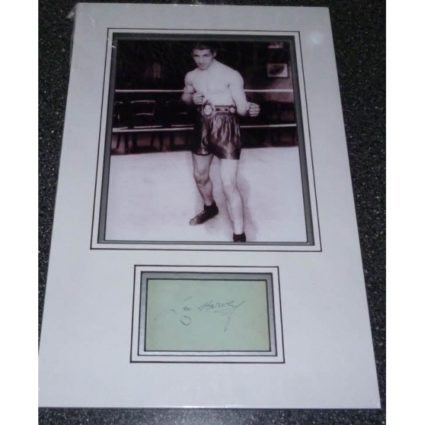 Len Harvey Boxing genuine authentic signed autograph display photo