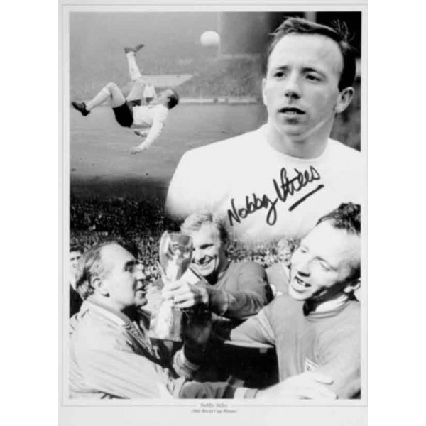 Nobby Stiles WC 1966 Man United football genuine authentic autograph signed photo