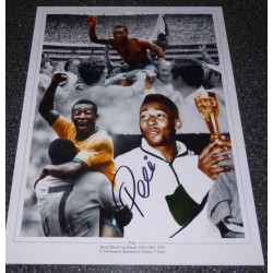 Pele Brazil football genuine authentic autograph signed photo