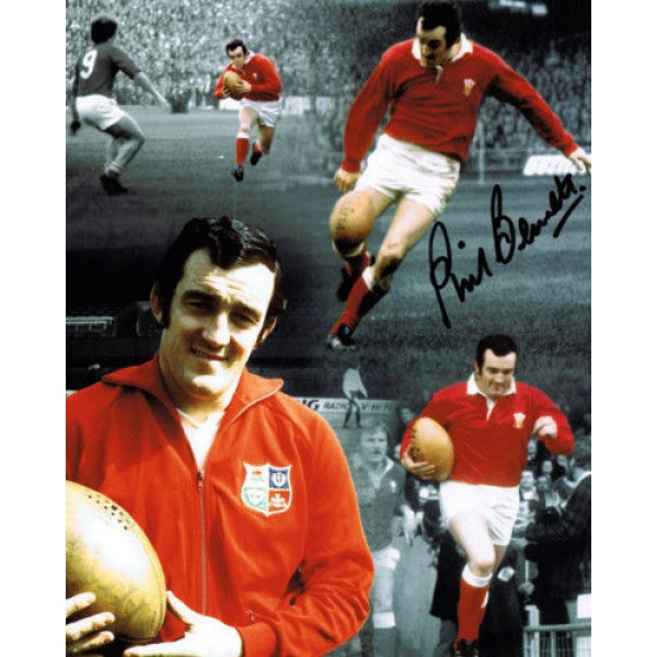 Phil Bennett Wales Welsh rugby genuine authentic autograph signed photo