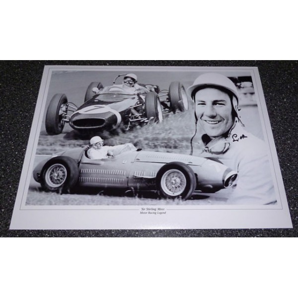 Stirling Moss F1 genuine authentic autograph signed photo 2