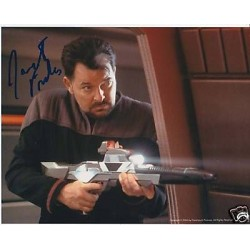 Star Trek Jonathan Frakes signed original celebrity authentic autographs photo