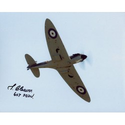 WW2 Reg Cleaver 607 sqdn Spitfire genuine signed authentic autograph photo