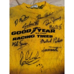 1960s Goodyear F1 T Shirt Multiple Signatures  authentic  autographs