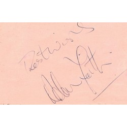 Adam Faith genuine authentic signed autographs