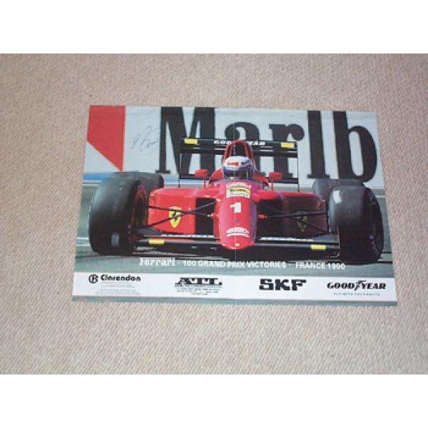 Alain Prost genuine authentic signed autographs