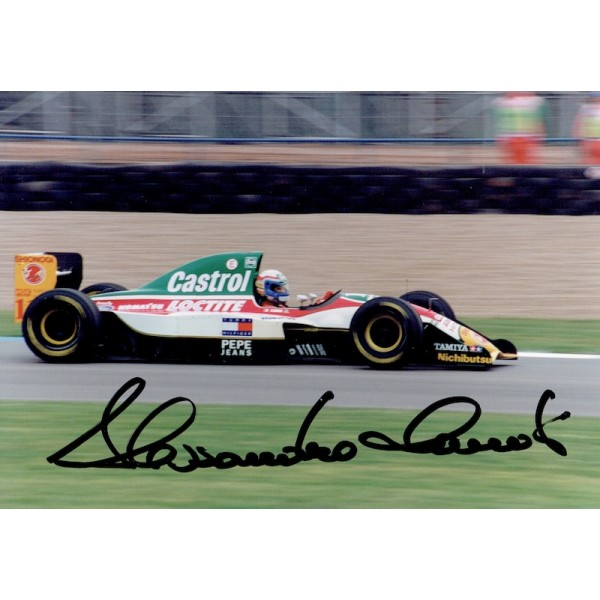 Alessandro Zanardi original authentic genuine signed photo