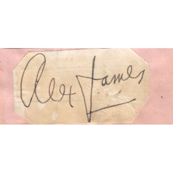 Alex James original authentic genuine signed photo