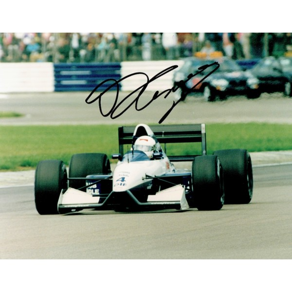 Andrea De Cesaris signed authentic genuine signature photo