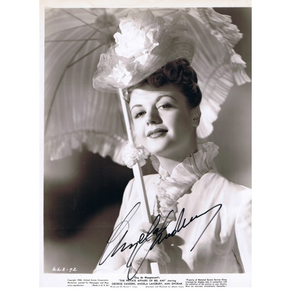 Angela Lansbury signed authentic genuine signature