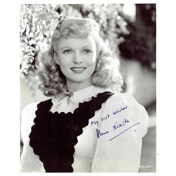 Anna Neagle  original authentic genuine autograph signed photo