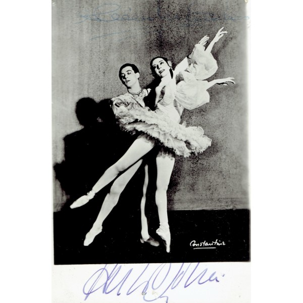 Anton Dolin / Alicia Markova genuine authentic signed autographs