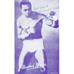 Archie Moore original authentic genuine signed photo