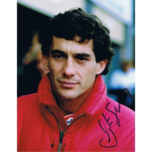 Ayrton Senna  genuine authentic signed autograph signatures photo