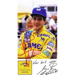 Ayrton Senna  genuine authentic signed autograph signatures postcard