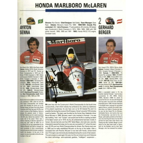 Ayrton Senna genuine authentic signed autograph signatures programs