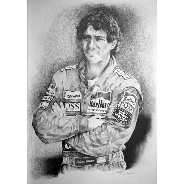 Ayrton Senna (Trevor Salisbury) genuine authentic signed autograph signatures