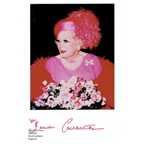Barbara Cartland  authentic signed genuine signature