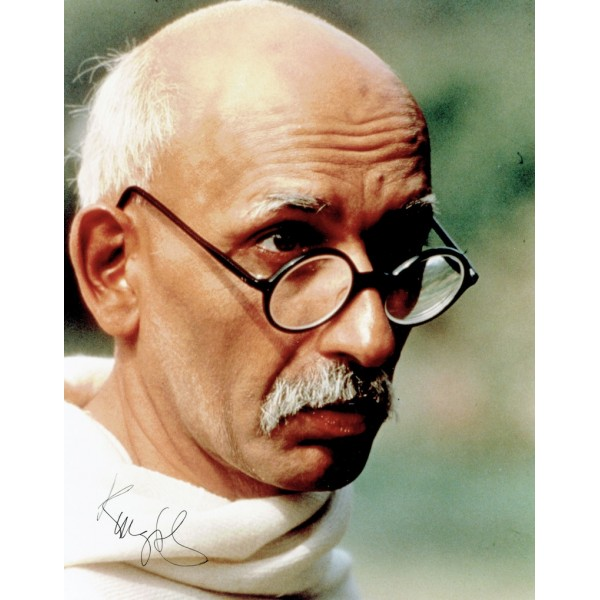 Ben  Kingsley  original authentic genuine autograph signed photo