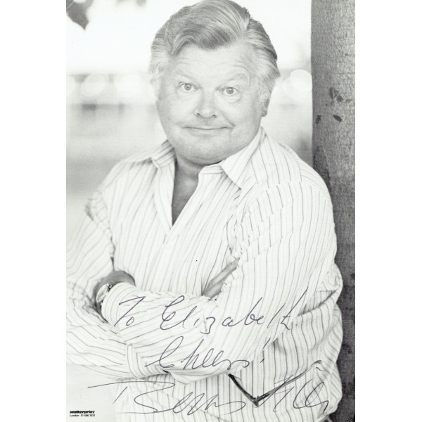 Benny Hill  authentic genuine autograph signed photo