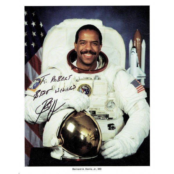Bernard Harris original authentic genuine signed photo