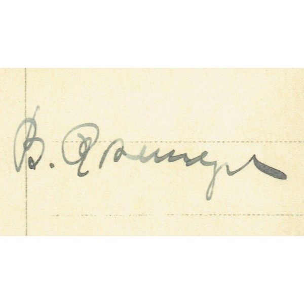 Bernd Rosemeyer genuine authentic signed autograph signatures