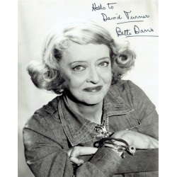 Bette Davis  authentic genuine autograph signed photo