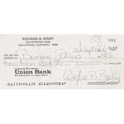 Bill Bixby  authentic genuine autograph signed cheque