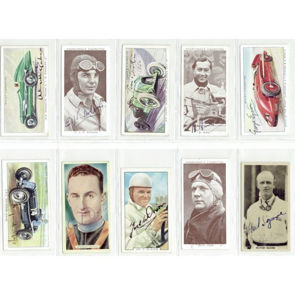 Birkin, Segrave, Bira, Cobb authentic signed autograph signatures