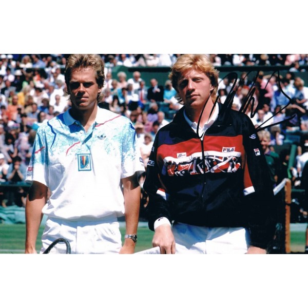 Boris Becker original authentic genuine signed photo