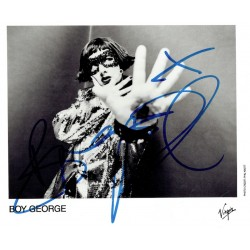 Boy George  original authentic genuine autograph signed photo