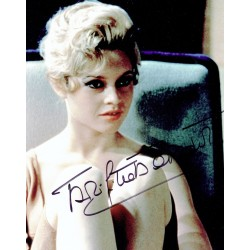 Bridgette Bardot  authentic genuine autograph signed photo