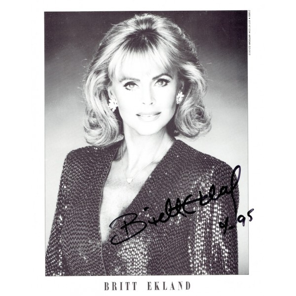 Britt Ekland  authentic genuine autograph signed photo