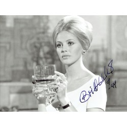 Britt Ekland original authentic genuine signed photo