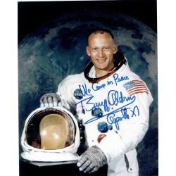 Buzz Aldrin genuine authentic signed autograph signatures photo