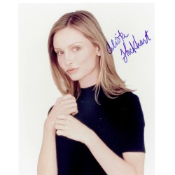 Calista Flockhart original authentic genuine signed photo