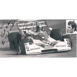 Carlos Pace original authentic genuine signed photo