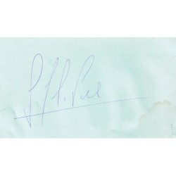 Carlos Pace signed authentic genuine signature