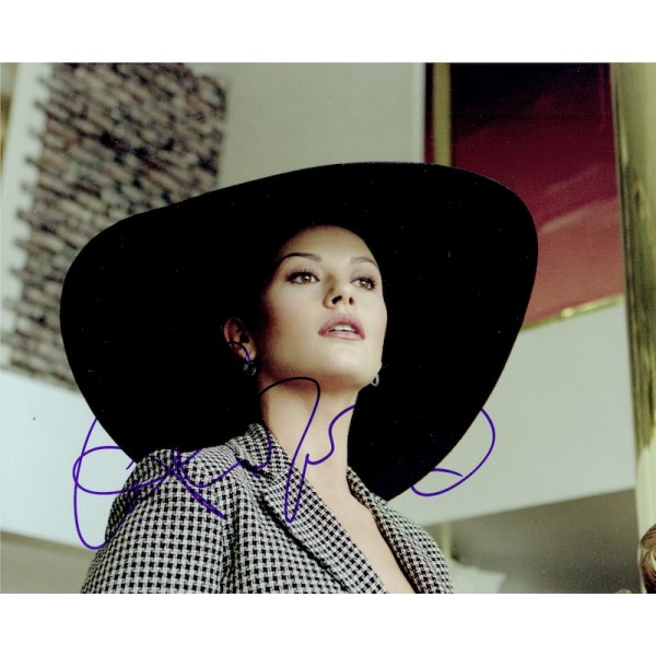 Catherine Zeta-Jones original authentic genuine signed photo
